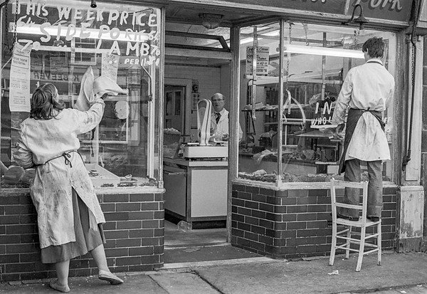 Butcher's Shop - Penistone Yorkshire UK 1970's