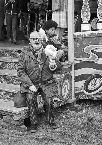 Old Man with Candyfloss - Firth Park Sheffield Fair 1970's
