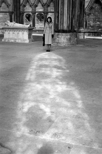 Diane and Image - Lincoln Cathedral 1970's