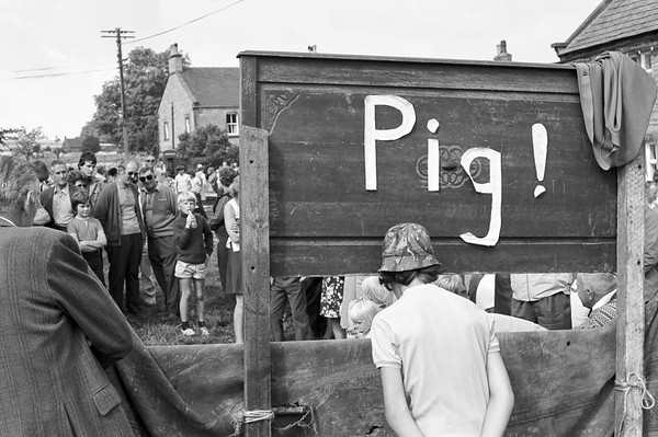 Pig Game - Eckington Country Fair Debyshire UK 1970's