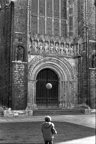 Boy and Football - Lincoln Lincolnshire UK 1970's