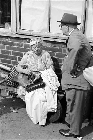 Woman Sat with Purse - Sheaf Market Sheffield 1970s