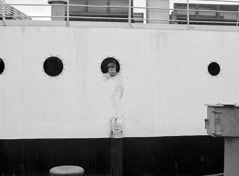 Man In Porthole - Oban Scotland UK 1982
