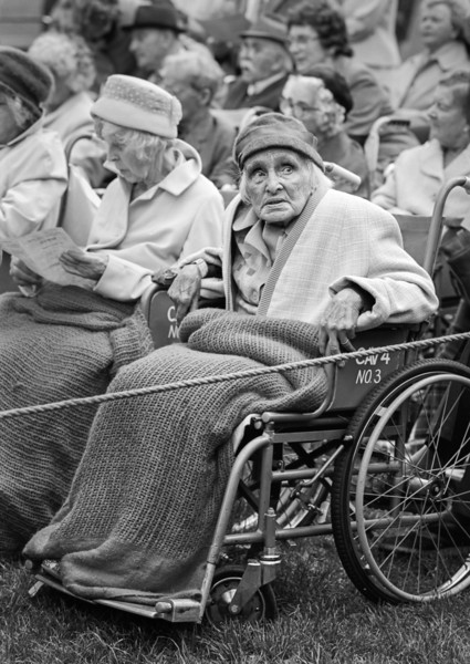 Woman In Wheelchair - Chatsworth House Derbyshire UK 1980's