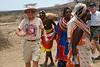 Bryce and Bill Dancing at Samburu Manyatta