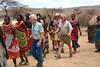 Pete, Wayne and Bryce Dancing at Samburu Manyatta