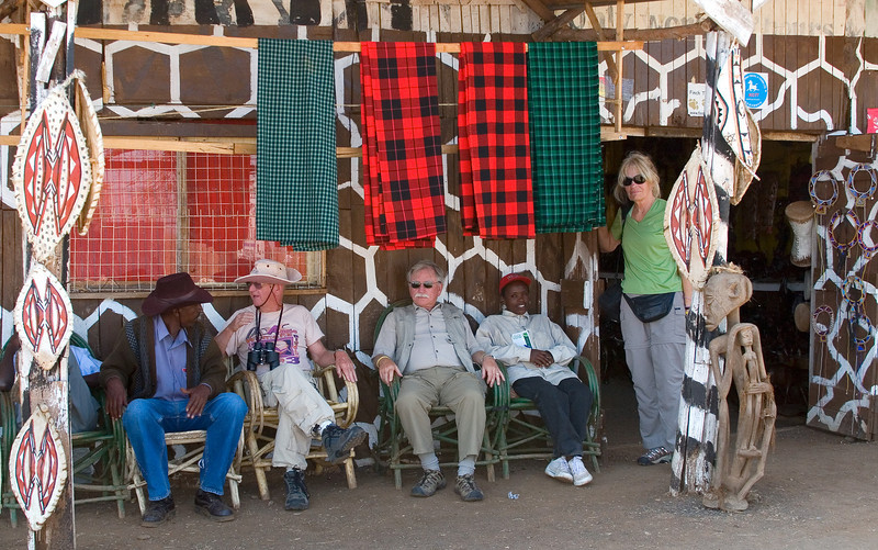 Curio Shop Stop on the way to Samburu