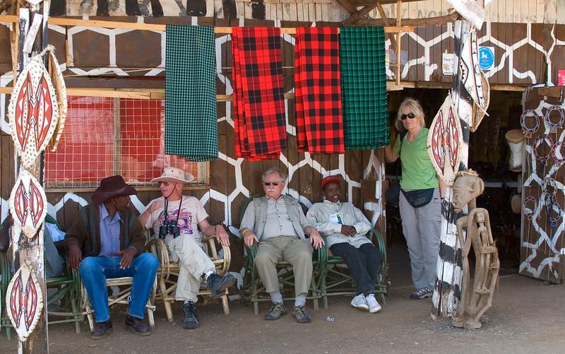 Curio Shop Stop on the way to Samburu