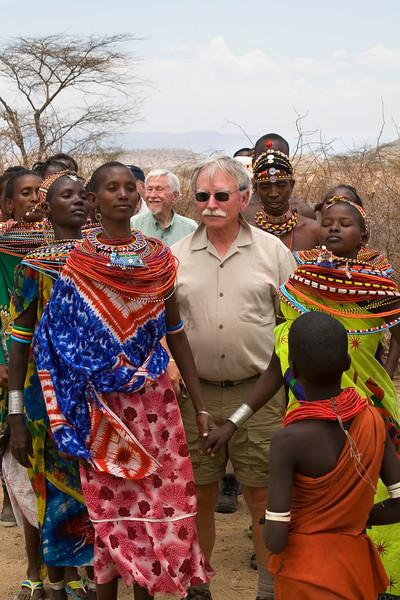 Wayne and Pete at Samburu Manyatta
