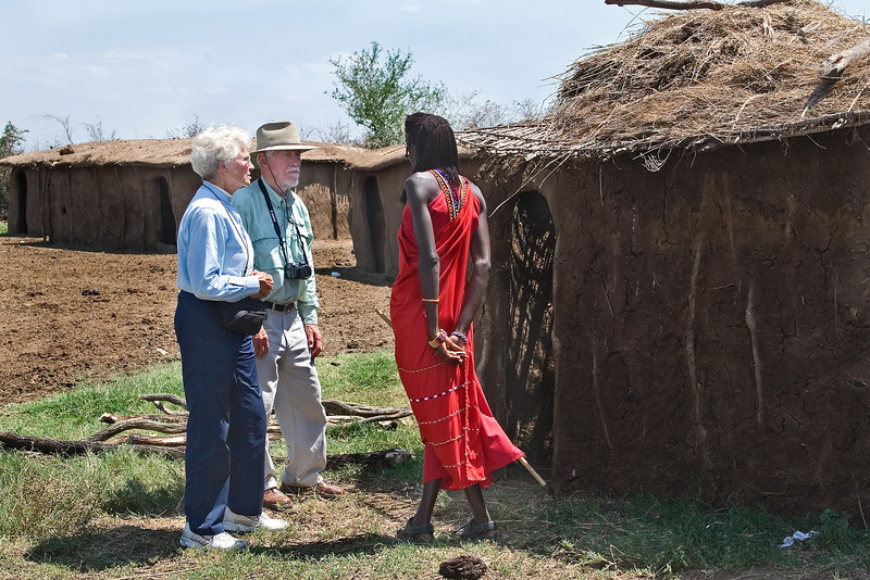 Maxine and Pete at a Masai Village