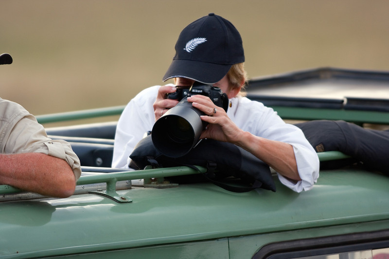 Mary Photographing, Masai Mara