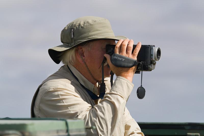 Wayne Filming in Amboseli