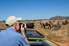 Bill Photographing Elephants, Samburu