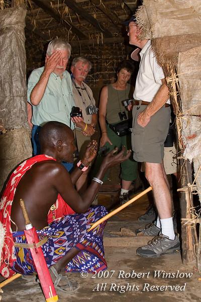 Steven Explains Samburu Living to the group