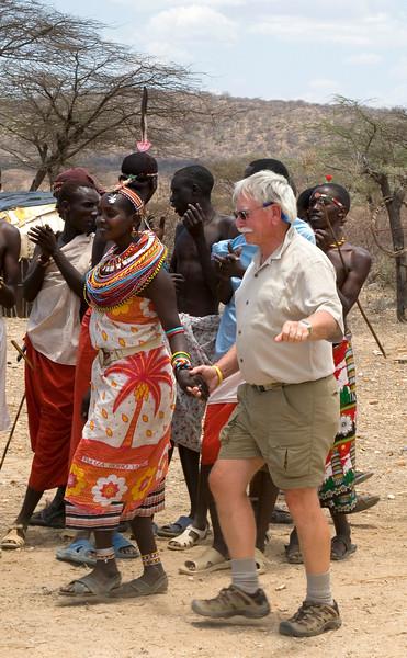 Wayne Dancing at Samburu Manyatta