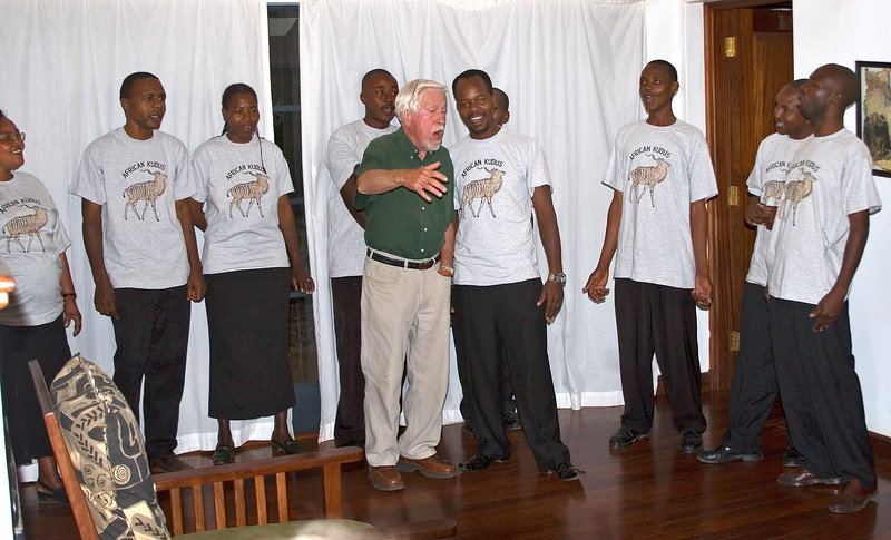 Pete Singing with African Kudus