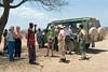 Chief Steven talking to the Group, Samburu Village