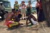 Men playing a game, Samburu Manyatta