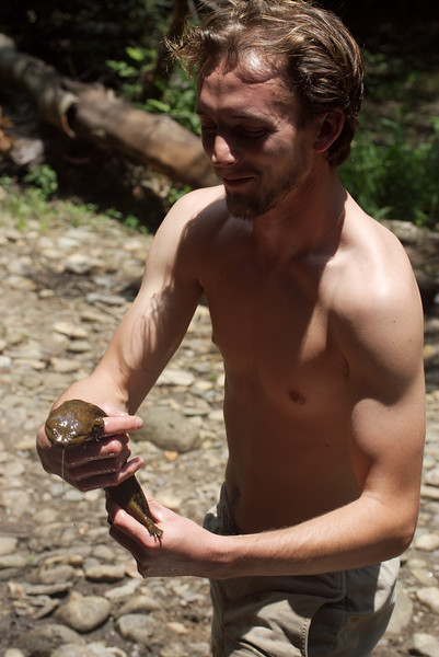 Sam with Hellbender