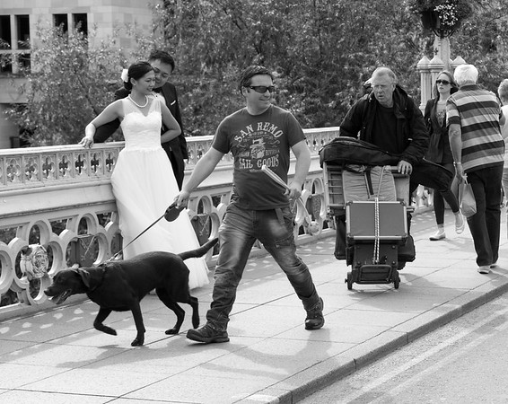 Wedding Couple - Lendal Bridge York North Yorkshire UK 2015