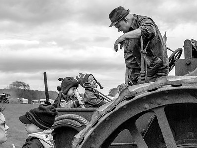 Traction Engine Driver - Allerton Park North Yorkshire UK 2015