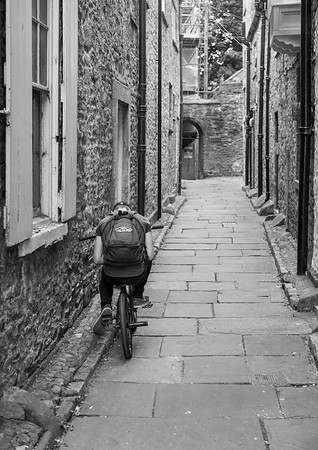 Boy in Jennel at Richmond - North Yorkshire UK 2017