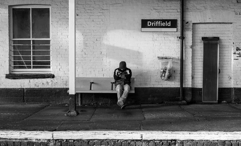 Man at Station - Driffield East Yorkshire UK 2017