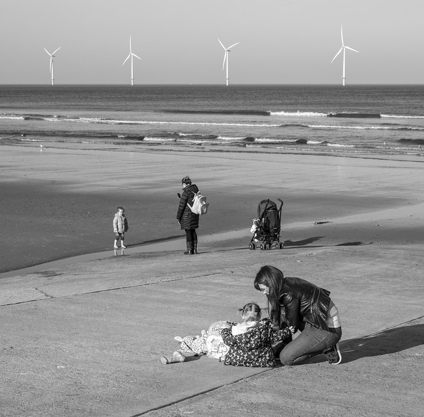 At the Beach - Redcar North Yorkshire UK 2019