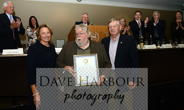 Cathy Giessel, Maynard Tapp, Charlie Huggins, 10-19-16, Alliance Annual Dinner Presentation