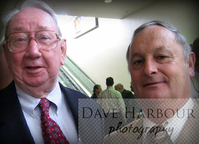 Bob Roses and the late Bill Tobin of the Anchorage Times, Special Session in Anchorage, 6-26-07, Photo by Dave Harbour