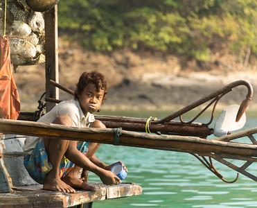 a Moken, Merqui Archipelago, Andaman Sea, Myanmar