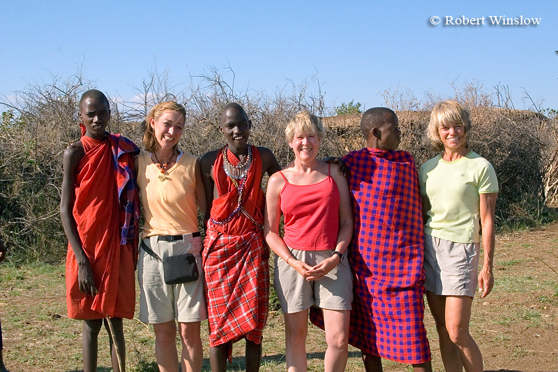 Linda, Barb, MaryAnne and Maasai