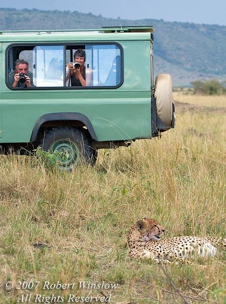 Jack and Glenn and Cheetah, Masai Mara, Kenya, Africa