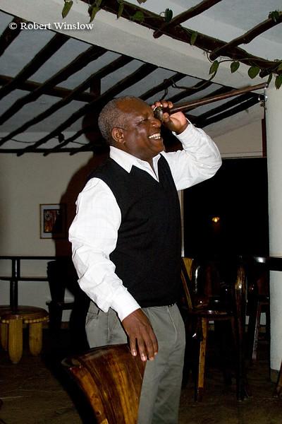David telling a story at Mpata