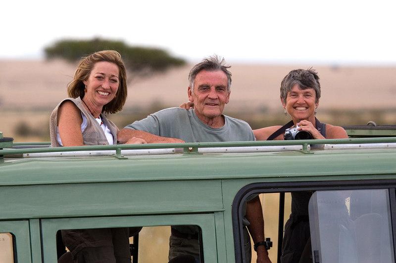 Linda, Jack and Glenn, Masai Mara, Kenya, Africa