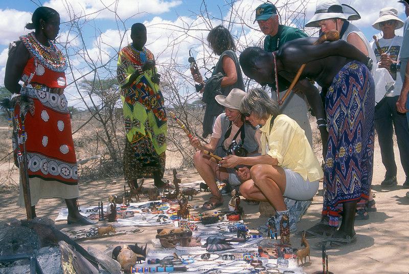 Crafts for sale, Samburu Village