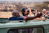 Looking at the leopard in Samburu