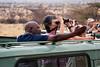 Looking at the leopard in Samburu
