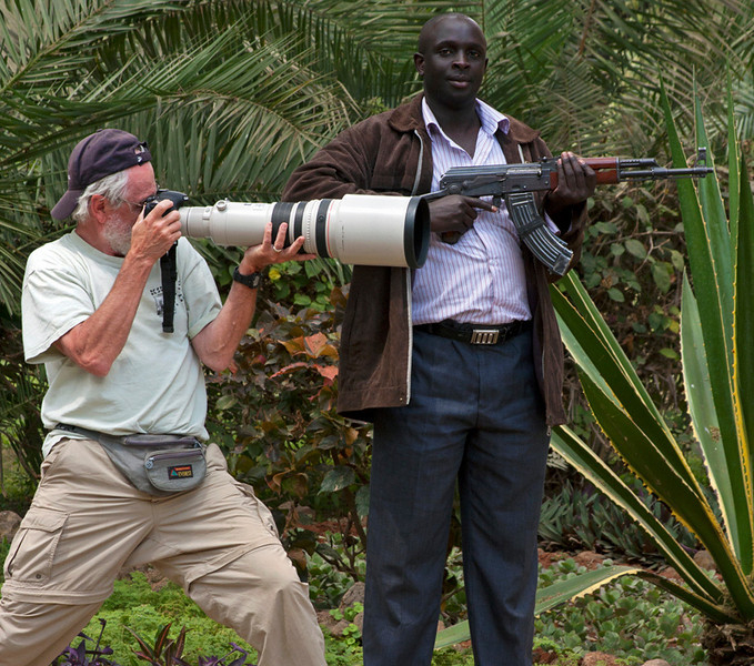 Robert and Kenya Police Escort