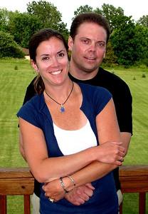 Craig & Kristie on their deck