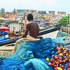 Fisherman Overlooking Cape Coast Fishing Village