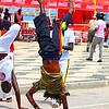 Street Entertainers Doing Handstands