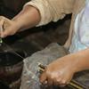 Woman Making Silk