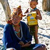 Bushman Mother & Child Eating Cereal