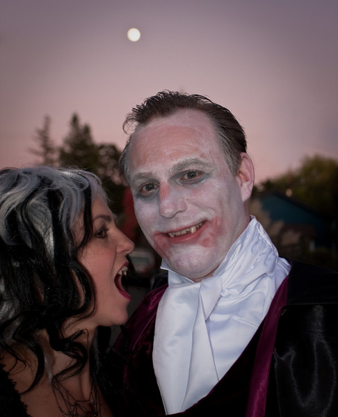 Halloween 2009. My brother-in-law, Rick and Sister-in-law, Linda at their Halloween party in Napa California