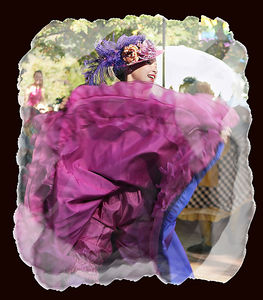 Cancan Dancer-2-French Festival, Santa Barbara, CA.