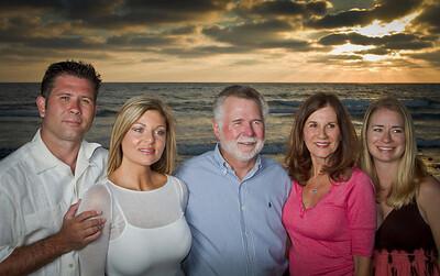 Family Portrait taken on Mission Beach, San Diego