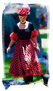 Red Cancan Girl