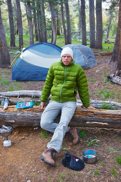 Matt settling at camp