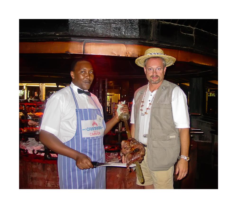 Preston At The World Famous Carnivore Restaurant in Kenya